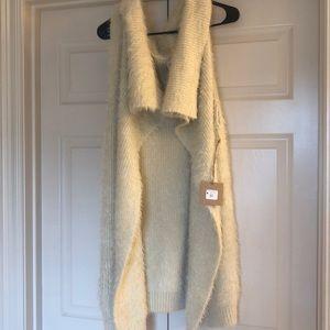 Ivory sweater vest